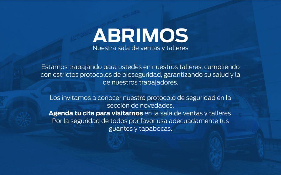 Protocolo general para la atención y prevenciones durante la emergencia sanitaria por Covid-19 AUTOMOTRIZ DEL SUR S.A.S.