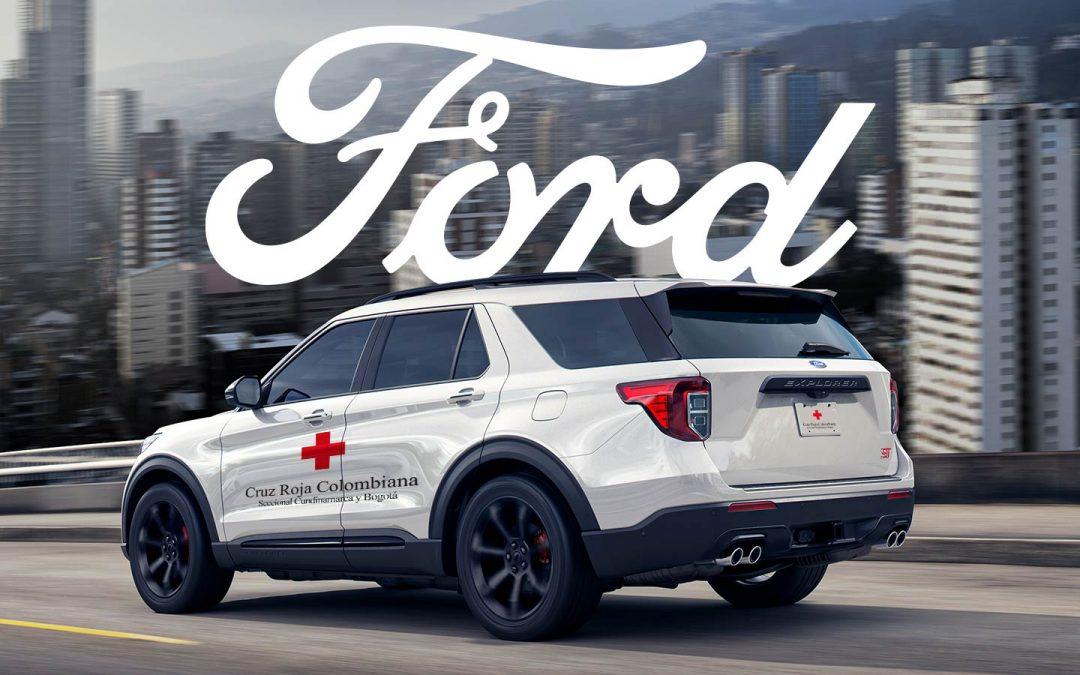 Ford Motor Colombia entrega vehículos a la Cruz Roja Colombiana